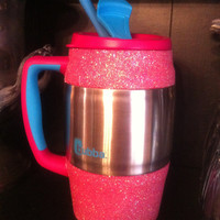 Glittered Insulated Mug / Bubba Keg - Pink