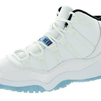 Nike Jordan Kids Jordan 11 Retro Bp White/Legend Blue/Black Basketball Shoe 1.5 Kids U