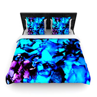 "Claire Day ""Peace Offering"" Blue Aqua Lightweight Duvet Cover"