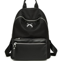 Casual Polyester Basic Black Backpack
