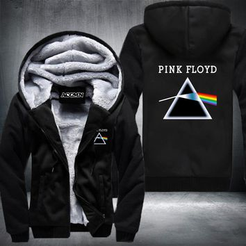 New Fashion Long Sleeve Pink Floyd Printed Jacket Funny Hoodie HipsterThicken zip up Cool Top USA EU size Plus size