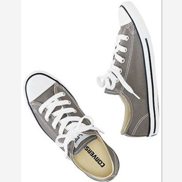 Converse All Star Adult Sneakers Low-Top Leisure shoes Grey 02b8191af1