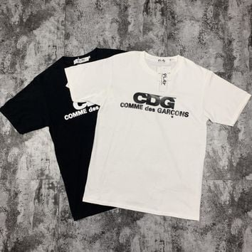 KUYOU Nippon Chaobai Kawabata CDG Summer Round-collar Short-sleeved Classic T-shirt for Men and Women