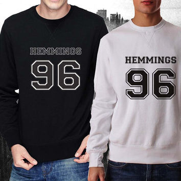 Hemmings 96 sweater Black and White Sweatshirt Crewneck Men or Women Unisex Size