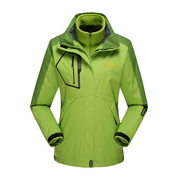 Two-Pieces Fleece liner Removable Brand Women Men Outdoor Camping Hiking Waterproof Windproof Mountain Sport Thicken Ski Jackets
