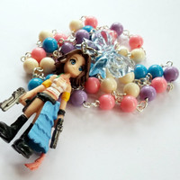 Yuna Final Fantasy Necklace FF10 Beaded by KitschBitchJewellery