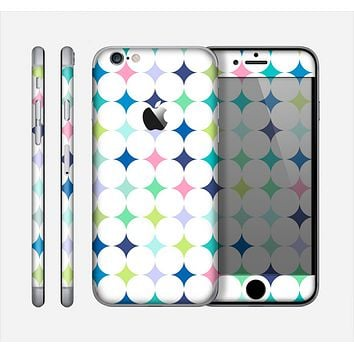 The Vibrant Fun Colored Pattern Hoops Inverted Polka Dot Skin for the Apple iPhone 6