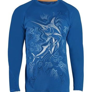 Men's King Marlin Vented L/S UV Fishing Shirt
