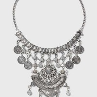 Coin Drop Collar Necklace - Jewelry - Bags & Accessories