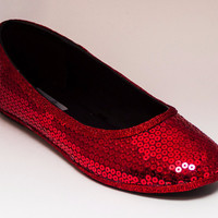 Big Sequin Ballet Flats