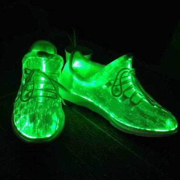7 LED Wings Sparkle Bright Luminous dance Shoes Dancing Women Sneakers Lace Shoes Colorful Glowing Shoes Party Hip-hop Cycling Running Shoes Macchar Cosplay Catalogue