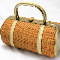 Vintage Wicker Purse by Verdi by keeky27 on Etsy