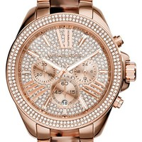Women's Michael Kors 'Wren' Pave Dial Chronograph Bracelet Watch, 42mm