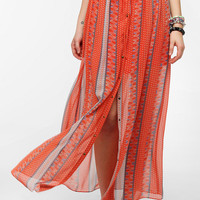 Urban Outfitters - Chandi & Lia Snap-Front Maxi Skirt