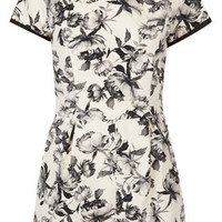 MONO FLORAL PLAYSUIT