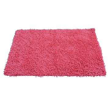 Tache 100% Cotton Chenille Salmon Coral Pink Shag Rug (TAMATS)