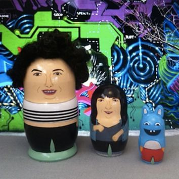 PygmyHippoShoppe — Broad City - Hand Painted Nesting Doll Set