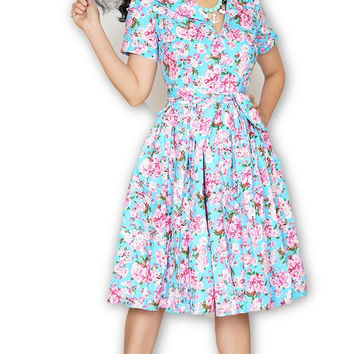 Lauren Dress in Cherry Blossom print