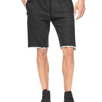 True Religion French Terry Active Short - Black/black