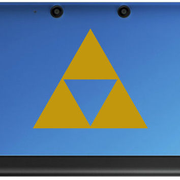 Legend of Zelda Triforce 3DS or XL Decal