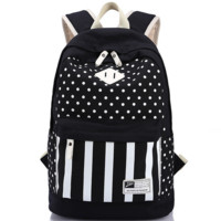 Polka Dots Travel Bag Backpack for College Vintage Daypack School Bookbag