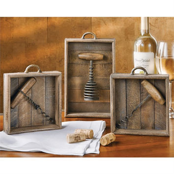 Vintage Corkscrew Shadow Boxes by Mud Pie