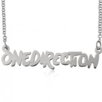 Stainless Steel One Direction Link Chain Necklace 23.4 inches