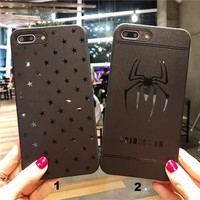 Fashion stars spider mobile phone case for iPhone X 7 7plus 8 8plus iPhone6 6s plus -171211