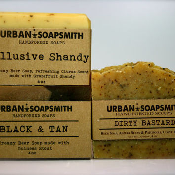 Beer Soap Set, Cold Process Soap, Men's Soap, Unisex Soap, All Natural Soaps, Beer Soap