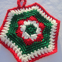 Crocheted Christmas Pot Holder