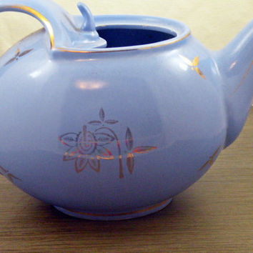 1940s Hall Cadet Blue Tea Pot