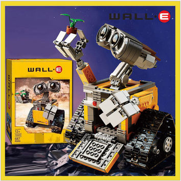 Building Blocks Model 16003 Compatible with IDEA WALL E 21303 Figure Educational Toy for Children Gift for Boy Girl