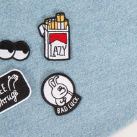 Lazy Oaf Bad Luck Patch Pack - Pin & Patches - Categories - Womens