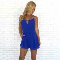 Ellie Romper in Royal Blue