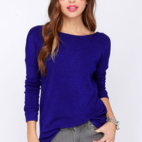 Backless Long-Sleeve Top