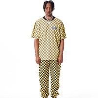 Check Boarder Track Pants | Yellow