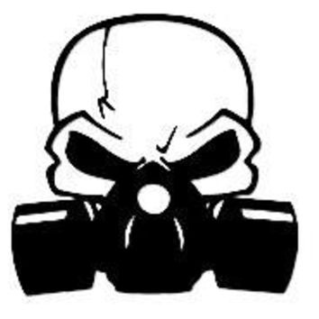 Gas Mask Skull   Automobile Car Window Ipad Tableet PC Notebook Cumputer Decal Sticker