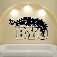 NCAA Wall Mural Vinyl Sticker GYM SHOP SPORTS TEAM LOGO PANTHER BYU DA2663 Edit