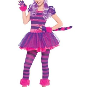 b55a52f84c5 Teen Girls Purple Cheshire Cat Costume- from Party City