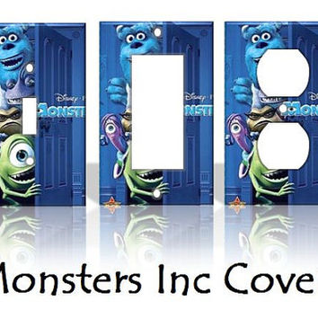 Monsters Inc Disney Light Switch Covers by KeepCalmandTurnItOn