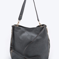 Deena & Ozzy Side Zip Tote Bag in Grey - Urban Outfitters