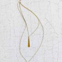 Geo Bar Hi/Lo Pendant Necklace- Gold One