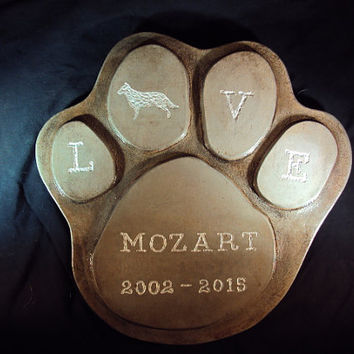 Dog, Dog Memorial, Cat Memorial, Pets Allowed Stepping Stone.  Custom Stone