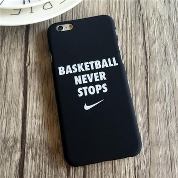 BASEKETBALL NEVER STOPS Case for iPhone