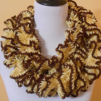 MADE TO ORDER yellow and brown spiral designed special scarf