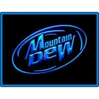 Mountain Dew Energy Drink Sport Bar Pub Restaurant Neon Light Sign