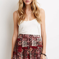 Tribal Print Crepe Shorts