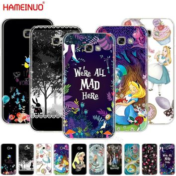 HAMEINUO Alice in Wonderland cell phone case cover for Samsung Galaxy A3 A310 A5 A510 A7 A8 A9 2016 2017 2018