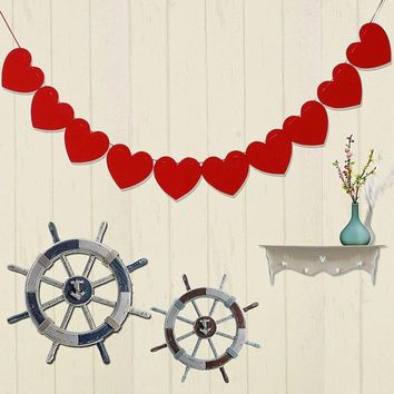 1 set Paperboard Heart-shaped Garland Bunting Banners & Flags Valentine's Day Party Wedding Room Home Decoration Supplies