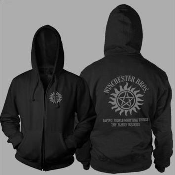 Xmas Gift Supernatural【SPN】 Thickening Cotton-padded Jacket Hoodie Cashmere Coats   [8834066060]